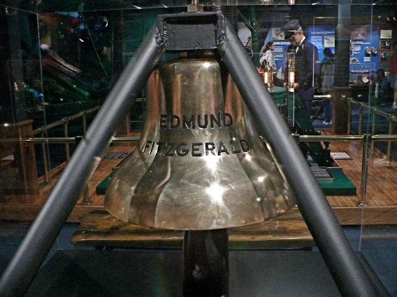The bell from the wreck of the Edmund Fitzgerald