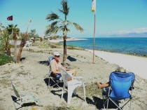 Relaxing on the beach in La Ventana