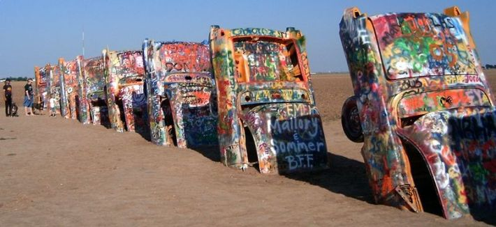 Cadillac Ranch art work