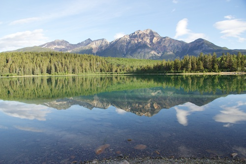 Patricia Lake and Pyramid Mountain