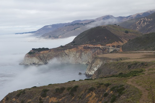The road to Big Sur