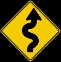 sign - winding road