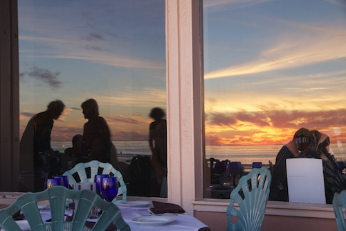 Dinner and a sunset. It couldn't be better